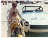 "1971 at Hutchinson Kansas with my first son ""Britton"" . We spent a lot of time together on that bike!"