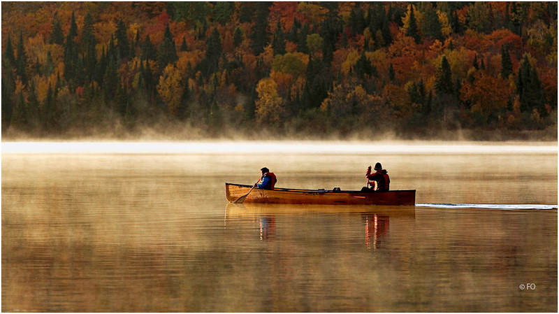 "Print tttle:  ""  CANOEING IN ALGONQUIN ""  /  © FO"