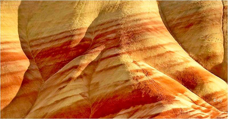 """Print title:  """"  SAND STRIPES """"  /  © Gj"""