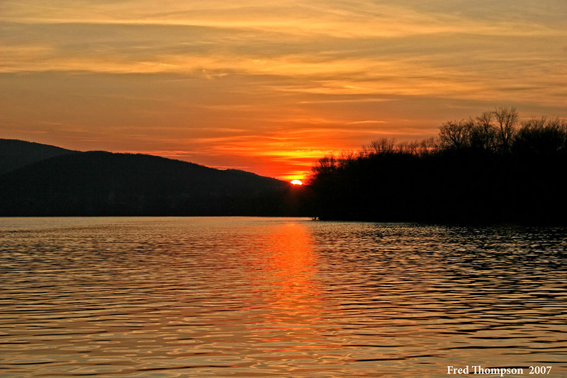 Sunset on the Susquehanna River at Duncannon Pa.