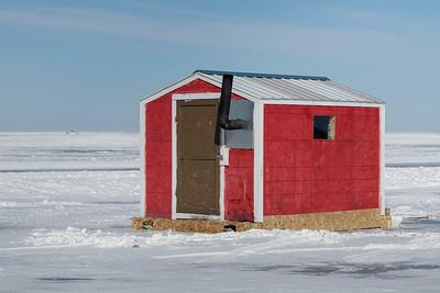 Ice Fishing - Lake Winnipeg