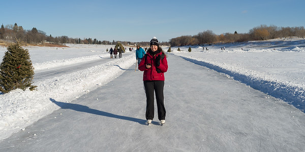 Skating on the Red River