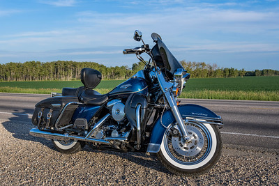 My Harley Davidson in the Praires