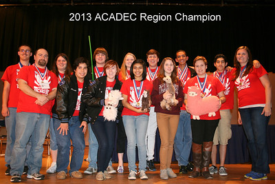 The Summit High School ACADEC Team at the 2013 Regional Competition