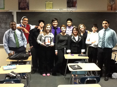 The Lake Ridge High School ACADEC Team at the 2013 Regional Competition