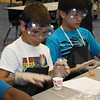 Jobe Science Days : On October 14-15, Jobe Middle School students participated in 7th Grade Science Extravaganza in the school's gym. The purpose of this two-day science enrichment program was to tie real-world concepts to what students are learning in their classrooms. The students were able to explore science with a variety of labs that focused on using the scientific method to solve a problem, measuring, and chemistry. The lessons provided remediation as well to determine our students strengths and help to focus on any areas that need ongoing practice throughout the school year in order to master the concepts successfully.