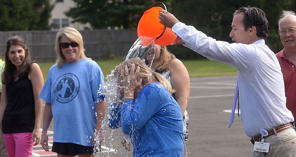 PHOTOS: Blue Bell Elementary principal, staff douse each other for ALS