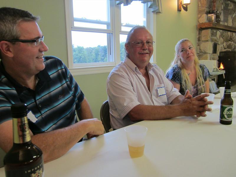 Tim McMahon, John and Heather Taffe