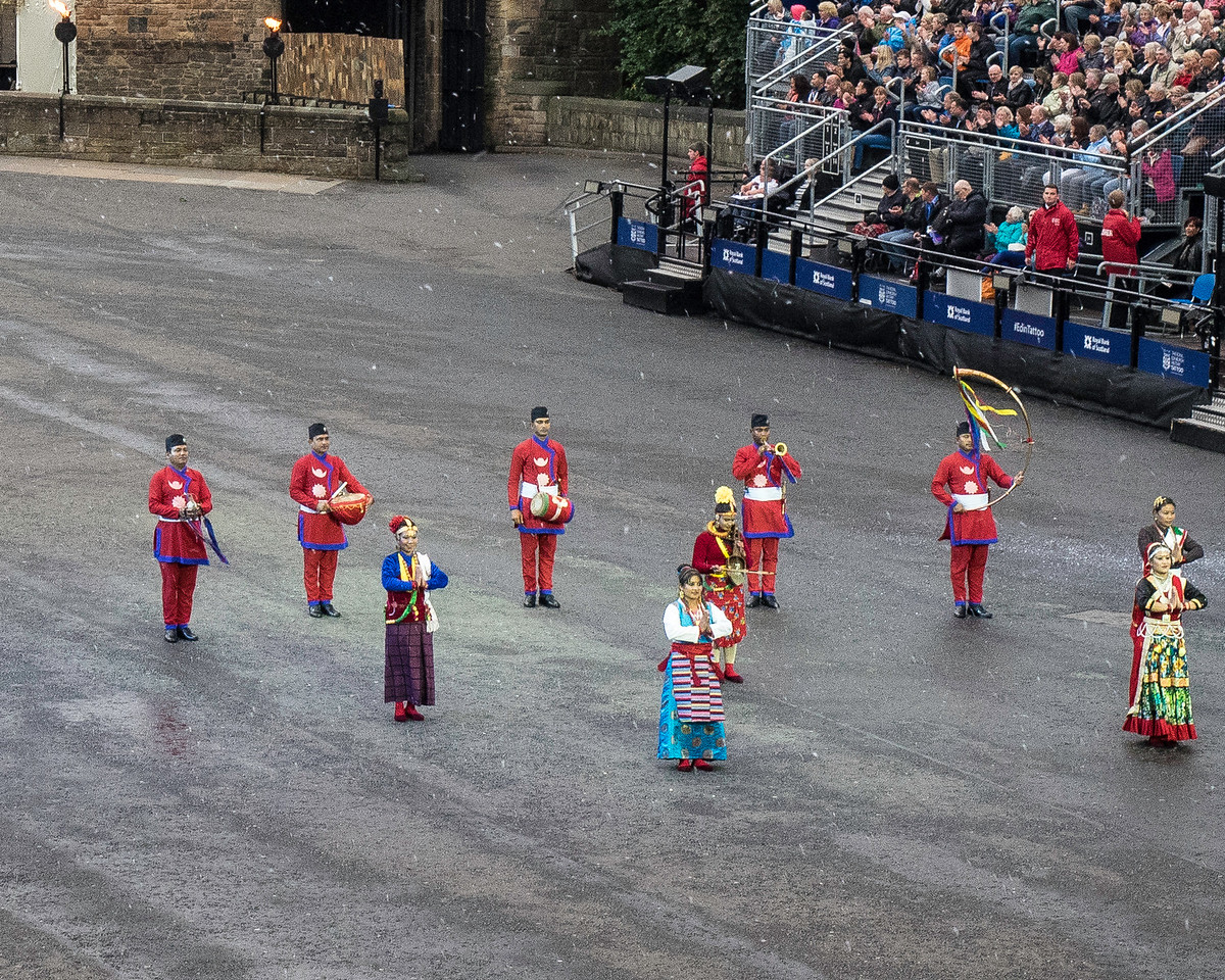 Edinburgh Tattoo. Nepal Army Band Commemorating the Joint British / Nepali Conquest of Everest by Edmund Hilary and Tensing Norgay