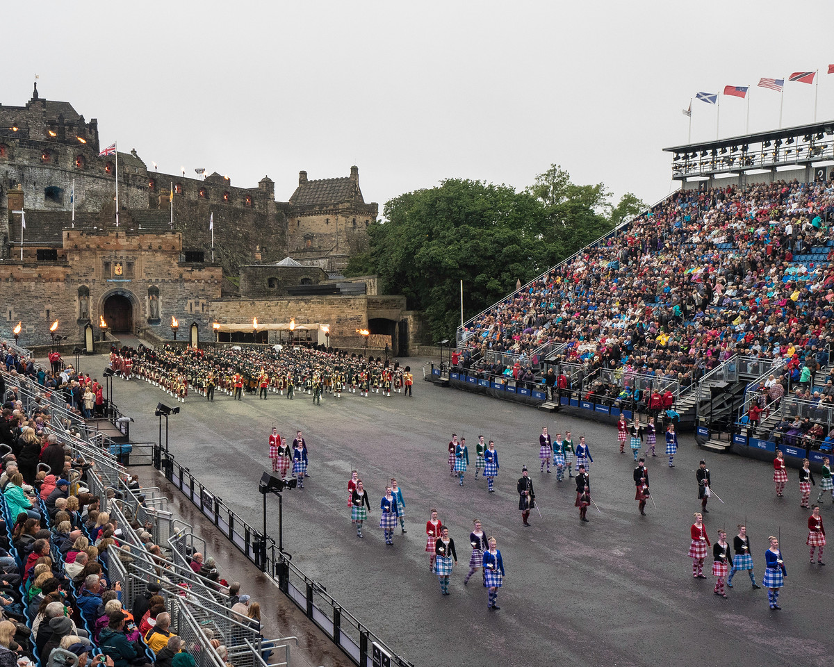 Edinburgh Tattoo  Highland Dancers and the Massed Pipes and Drums