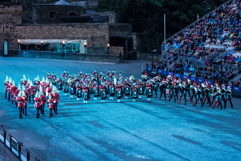 Edinburgh Miltary Tattoo Massed Bands Demonstrating their Roles in Battle