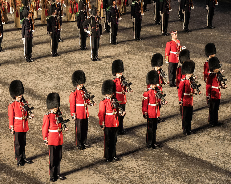 Edinburgh Tattoo  Guard of Honour 1st. Battalion Scots Guards