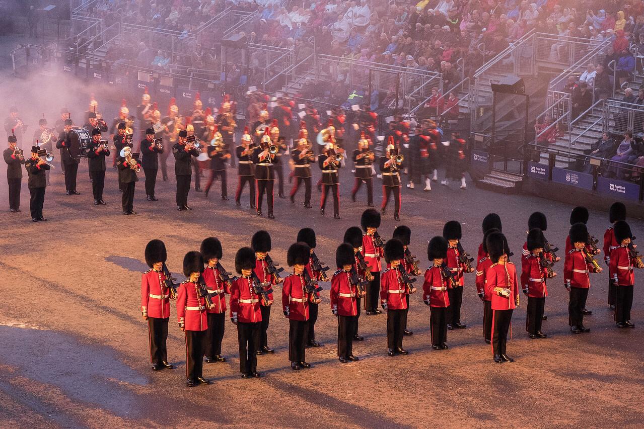 Edinburgh Tattoo Queens Guard in Front