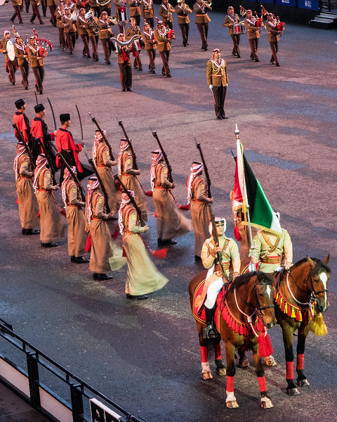 Edinburgh Tattoo  Jordan Armed Forces Honour Guard Silent Drill Team, Circassian Guard of Honour (Guards of the King)