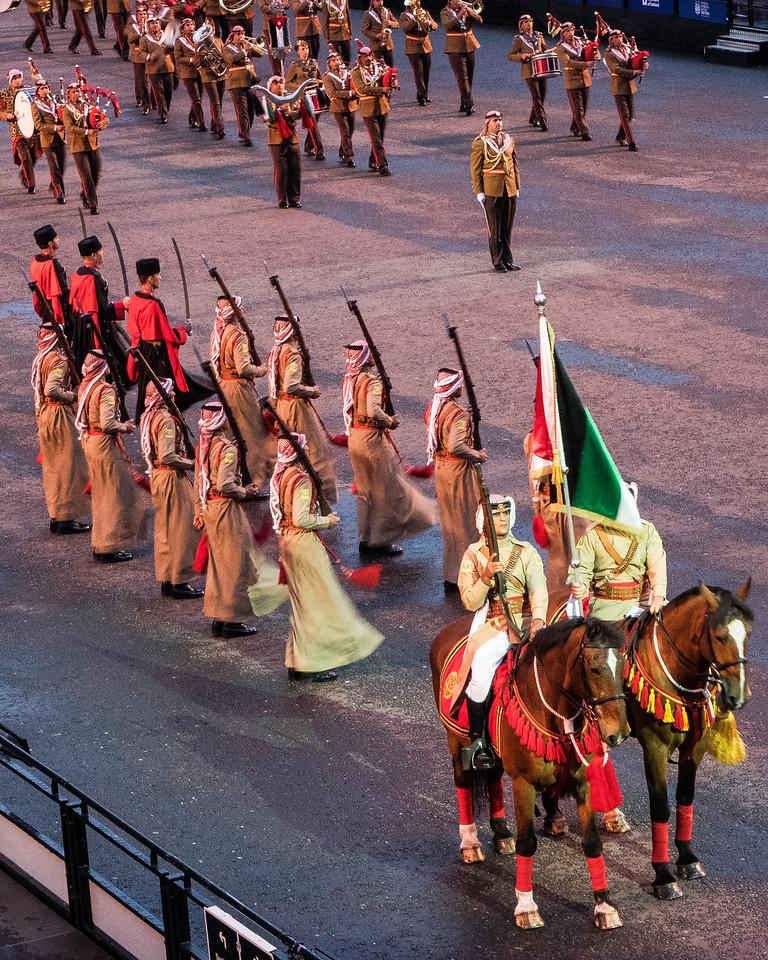 Edinburgh Tattoo  Jordan Armed Forces Honour Guard Silent Drill Team, Circassian Guard of Honour (Guards of the King)