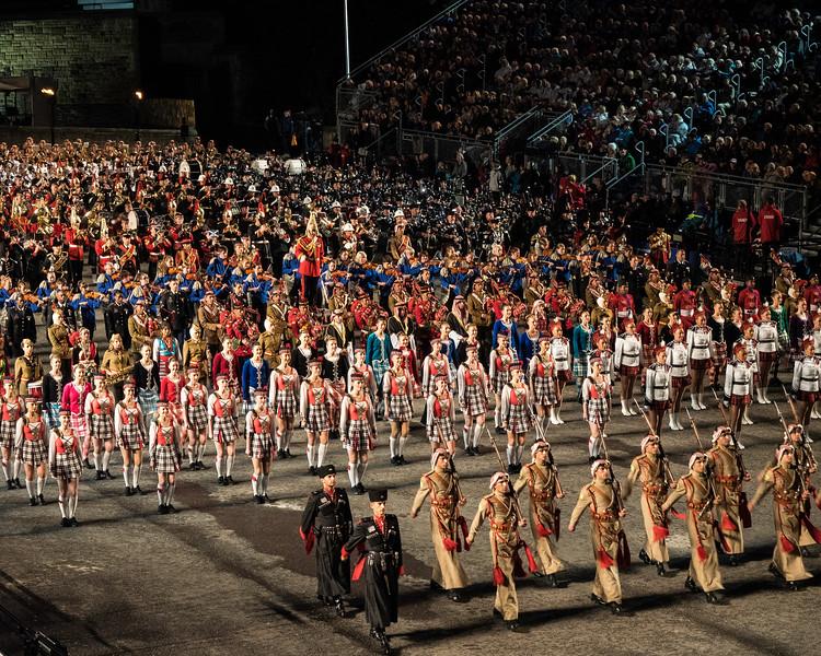 Edinburgh Tattoo  Massed Bands with Jordanian Army