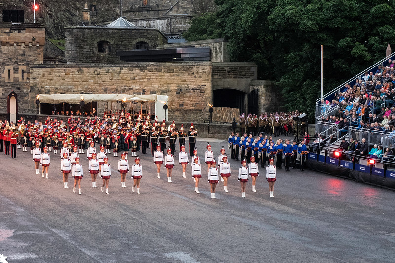 Edinburgh Tattoo. Lochiel Marching Drill Team - New Zealand