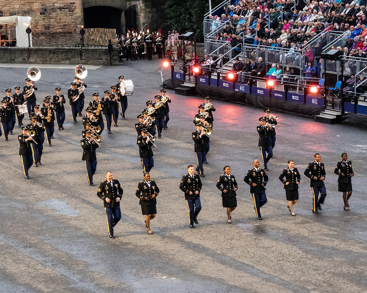 Edinburgh Tattoo. US Army Europe Band and Chorus. Benny Goodman, Elvis and Aretha Franklin