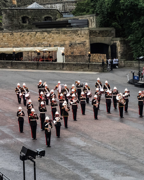 Edinburgh Tattoo. Royal Marines Band Commemorating the Battle of Jutland WW I