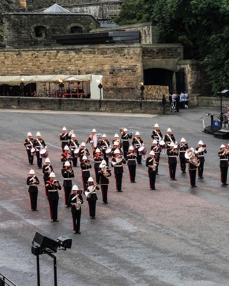 Edinburgh Tattoo. Royal Marines Band Commemorating the Battle of Jutland WW I