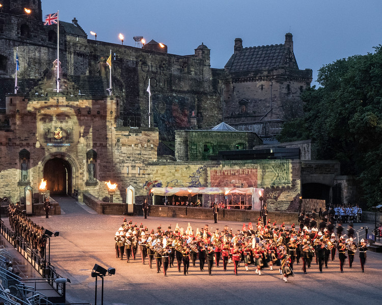 Edinburgh Tattoo  Celebration of the Queen's 90th. Birthday