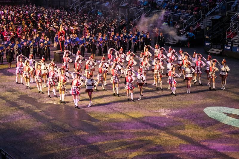 Edinburgh Tattoo  Highland Dancers and New Zealand Drill Team