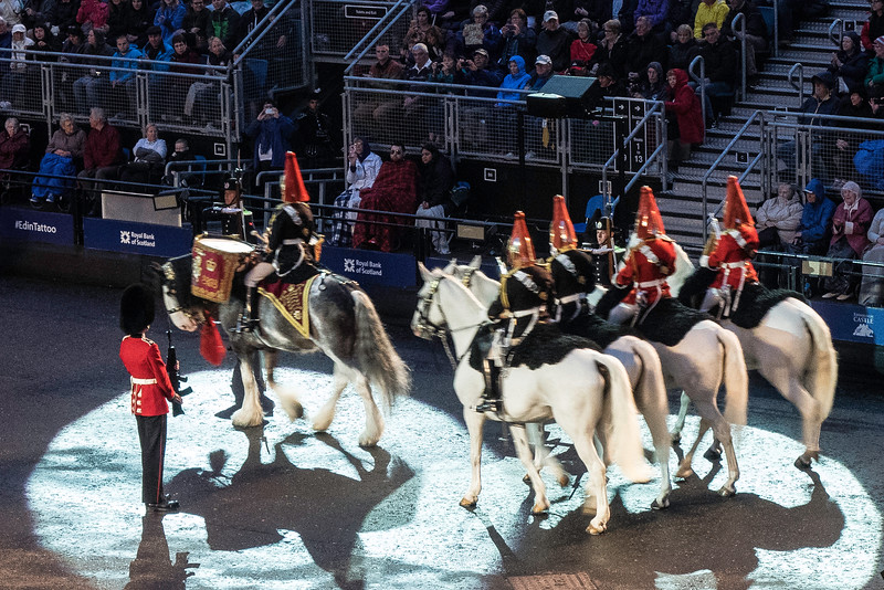 Edinburgh Tattoo  The Mounted Band of the Household Cavalry. - Drum Horse, Mercury