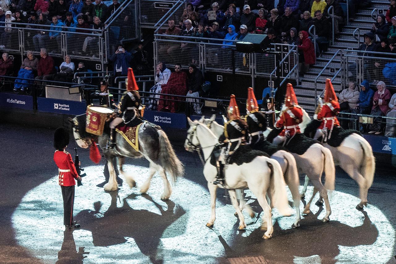 Edinburgh Tattoo  The Mounted Band of the Household Cavalry. - Drum Horse, Mercury