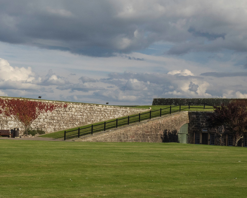 Entrance to Ft. George built in 1748 following the Battle of Culloden.  Now the home of the Scottish Highland Regiments.  Never in battle.