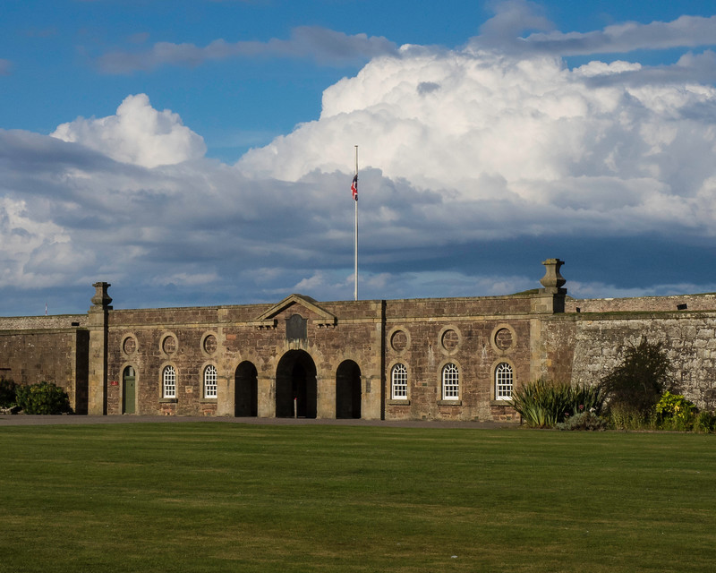 Entrance to Ft. George built in 1748 following the Battle of Culloden.  Now the home of the Scottish Highland Regiments.