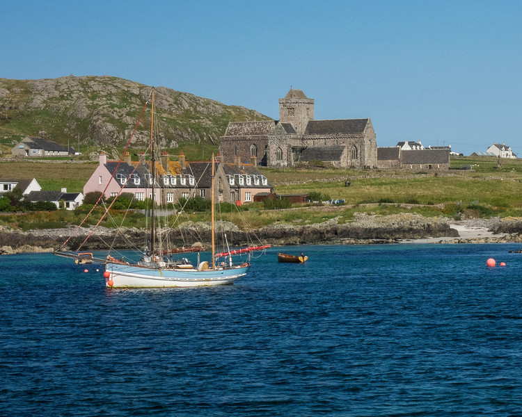 Iona Abbey from the Ferry from the Isle of Mull