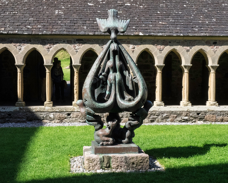 "Iona Abbey Cloister ""Descent of the Spirit""  Jacques Lipchitz - 1959"