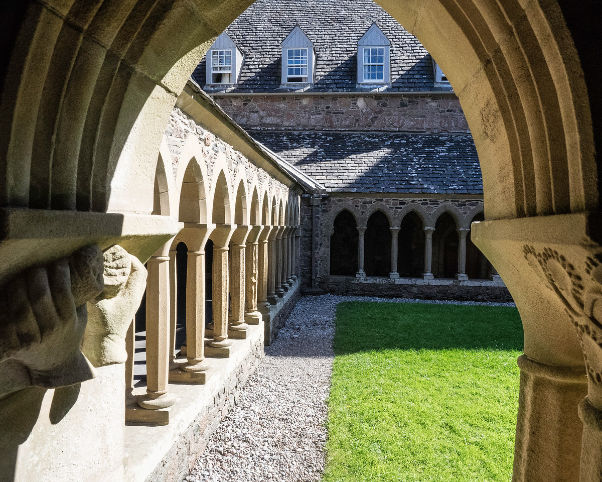 Reconstructed Cloisters at Iona Abbey