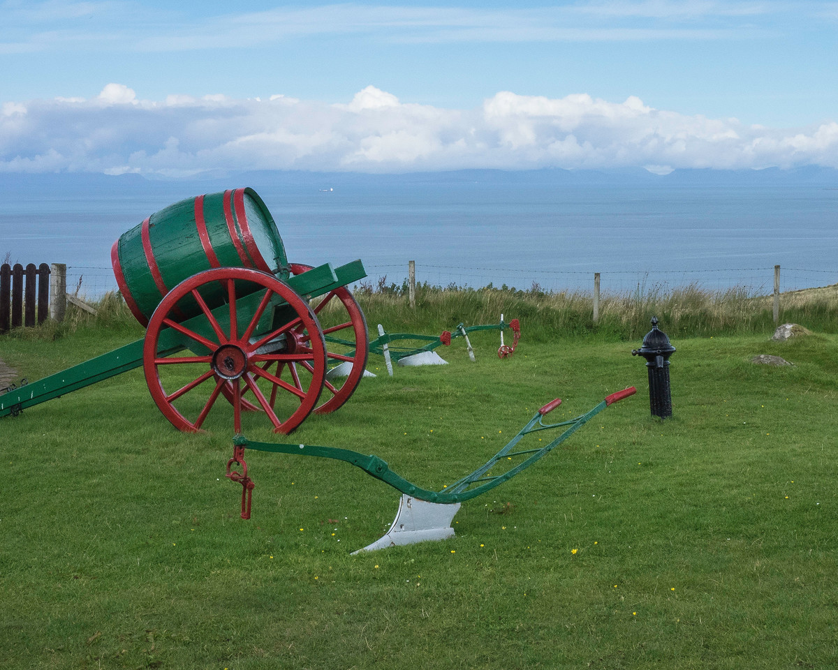 Painted cart at the museum