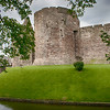 Rothesay Castle in the center of Town.