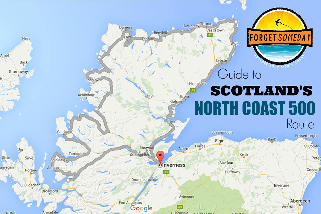 North Coast 500 Map