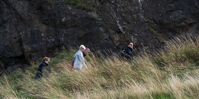 Tourists Hike Arthur's Seat