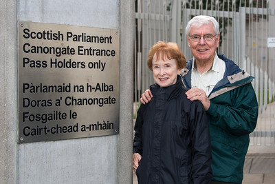 Darrell and Diana at Scottish Parliament
