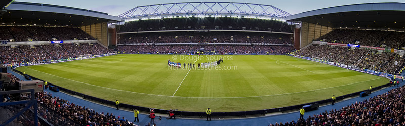 'Minutes Silence' - panorama<br /> 02 January 2011<br /> Marking the 40th anniversary of the Ibrox disaster, a panorama taken prior to the Rangers v Celtic game.<br /> Ibrox Stadium, Glasgow, Scotland