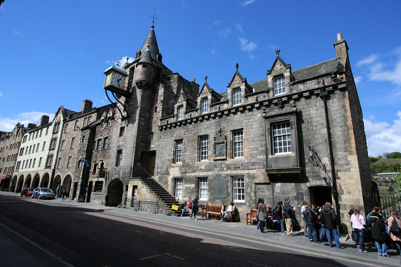 The Tollbooth Building, Royal Mile, Edinburgh, built 1591