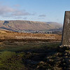 'Trig Point' - panorama<br /> 22 January 2012<br /> - the top of Auchineden Hill (375 metres) with the Campsie Hills & Glasgow beyond.<br /> Auchineden Hill, Auchengillan, Scotland