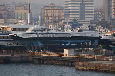 Kolkhida type hydrofoil ALIGEA laid up and hauled in Napoli.