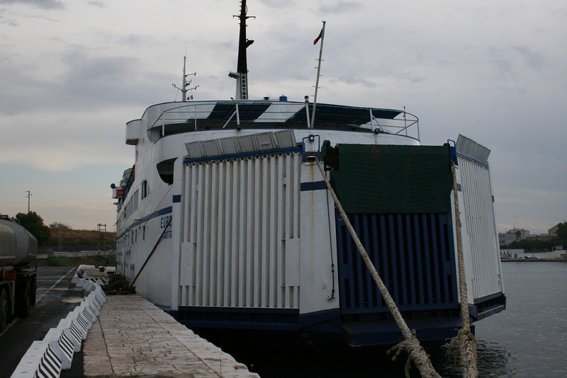 F/B EUROPA I laid up in Brindisi in 2008.