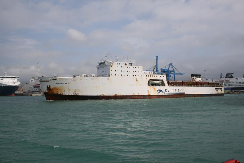 2008 - Trainferry GARIBALDI leaving Civitavecchia to Golfo Aranci.