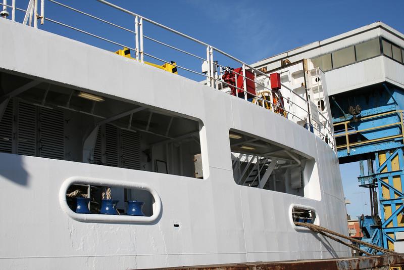 2008 - Trainferry GARIBALDI moored in Civitavecchia.