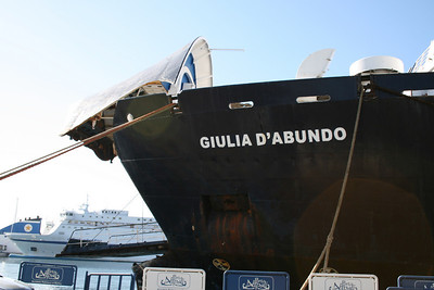 2008 - F/B GIULIA D'ABUNDO during works in Napoli. She'll never be in service.
