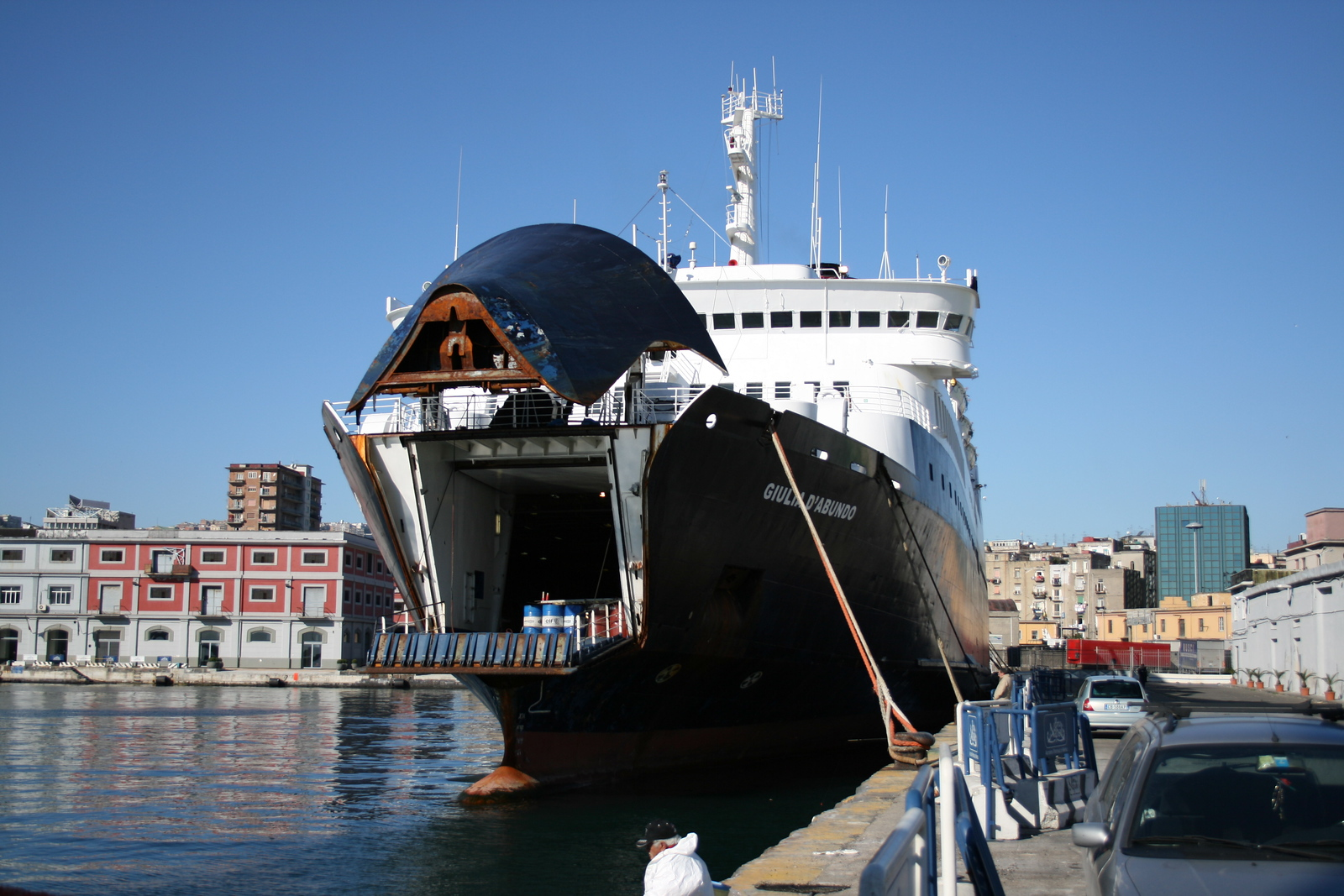 2008 - F/B GIULIA D'ABUNDO during works in Napoli.
