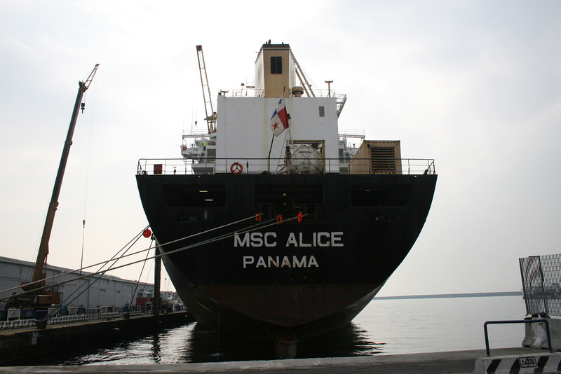 2008 - M/S MSC ALICE docked in Napoli for last works, but to be scrapped.
