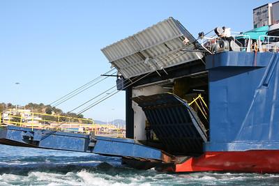 2010 - F/B POLARIS departing from Corfu.