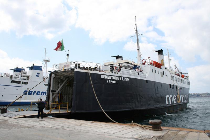 REDENTORE PRIMO moored in Pozzuoli.